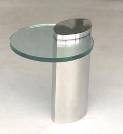 Brueton Brueton Mirror Polished Modernist Minimalist Side Drink Table - 1421331