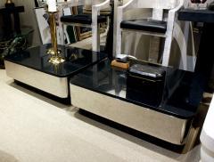 Brueton Brueton Pair of Stainless Steel Coffee Tables with Granite Tops 1970s - 719504