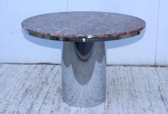 Brueton Brueton Stainless Steel And Marble Dining Table - 1310979