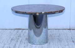 Brueton Brueton Stainless Steel And Marble Dining Table - 1310982