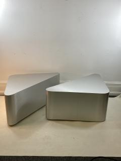 Brueton MODERN ALUMINUM TRIANGULAR END TABLES - 1204577