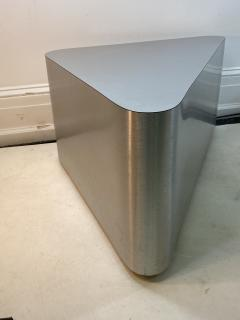Brueton MODERN ALUMINUM TRIANGULAR END TABLES - 1204581