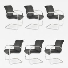 Brueton SET OF 6 GHIA DINING CHAIRS BY CHARLES GIBILTERRA FOR BRUETON CIRCA 1970S - 734409