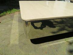 Brueton Uira Grayboff Coffee Table Steel Marble 1970s Brueton Mid Century Modern - 1612790