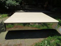 Brueton Uira Grayboff Coffee Table Steel Marble 1970s Brueton Mid Century Modern - 1612793