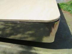 Brueton Uira Grayboff Coffee Table Steel Marble 1970s Brueton Mid Century Modern - 1612796