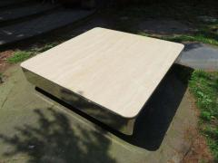 Brueton Uira Grayboff Coffee Table Steel Marble 1970s Brueton Mid Century Modern - 1612798