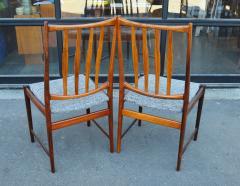 Bruksbo Rare Set of 6 Sculptural Rosewood Dining Chairs by Bruksbo in Gray Tweed - 2093813