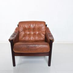 Bruksbo Torbj rn Afdal for Bruksbo Danish Leather Padded Arm Chair Lounge - 1436173