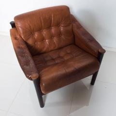 Bruksbo Torbj rn Afdal for Bruksbo Danish Leather Padded Arm Chair Lounge - 1436178