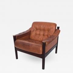 Bruksbo Torbj rn Afdal for Bruksbo Danish Leather Padded Arm Chair Lounge - 1438080