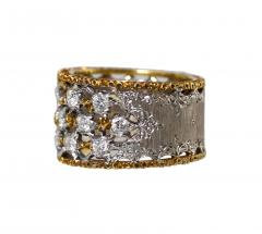 Buccellati 18 Karat Two Tone Gold and Diamond Ring by Buccellati Italy - 315213