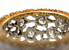Buccellati 18 Karat Two Tone Gold and Diamond Ring by Buccellati Italy - 315215
