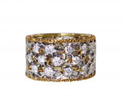 Buccellati 18 Karat Two Tone Gold and Diamond Ring by Buccellati Italy - 315234