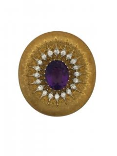 Buccellati Buccellati Amethyst and Diamond Brooch - 301007
