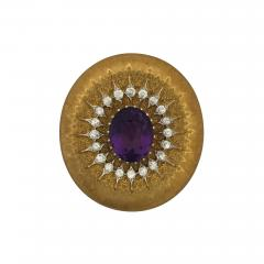 Buccellati Buccellati Amethyst and Diamond Brooch - 301069