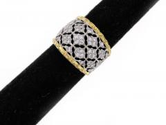 Buccellati Buccellati Diamond Gold Band Ring - 436008