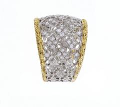 Buccellati Buccellati Diamond Gold Band Ring - 436009