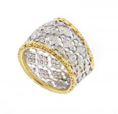 Buccellati Buccellati Diamond Gold Band Ring - 436010