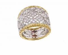 Buccellati Buccellati Diamond Gold Band Ring - 436011
