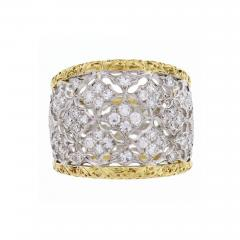 Buccellati Buccellati Diamond Gold Band Ring - 444162