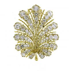Buccellati Buccellati Diamond Leaf Brooch - 1159818