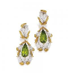 Buccellati Buccellati Late 20th Century Peridot Diamond and Gold Earrings - 341061