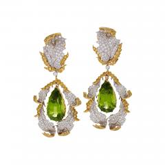 Buccellati Buccellati Late 20th Century Peridot Diamond and Gold Earrings - 341657