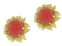 Buccellati Buccellati Oak Leaf Coral Earrings - 1094513