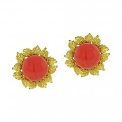 Buccellati Buccellati Oak Leaf Coral Earrings - 1094875