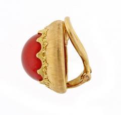 Buccellati Buccellati Ox Blood Coral Gold Earrings - 457948