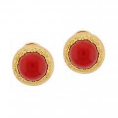 Buccellati Buccellati Ox Blood Coral Gold Earrings - 477636