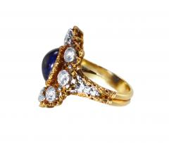 Buccellati Gold Sapphire and Diamond Ring by Buccellati Italy circa 1950 - 303998