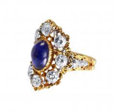 Buccellati Gold Sapphire and Diamond Ring by Buccellati Italy circa 1950 - 303999