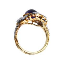 Buccellati Gold Sapphire and Diamond Ring by Buccellati Italy circa 1950 - 304001