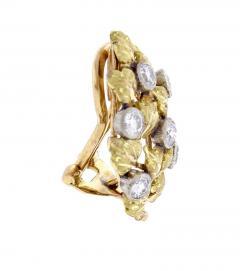 Buccellati Mario Buccellati Diamond Leaf Earrings - 1106568