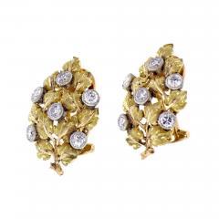 Buccellati Mario Buccellati Diamond Leaf Earrings - 1106920
