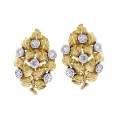 Buccellati Mario Buccellati Diamond Leaf Earrings - 1106941