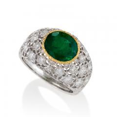 Buccellati Mario Buccellati Estate Emerald Diamond and Gold Ring - 334597