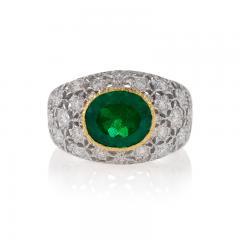 Buccellati Mario Buccellati Estate Emerald Diamond and Gold Ring - 334598