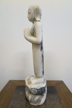 Buddha Buddhism 19th Century Alabaster Burmese Buddhist Statue - 1271247