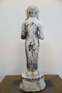 Buddha Buddhism 19th Century Alabaster Burmese Buddhist Statue - 1271249