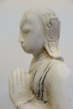 Buddha Buddhism 19th Century Alabaster Burmese Buddhist Statue - 1271253