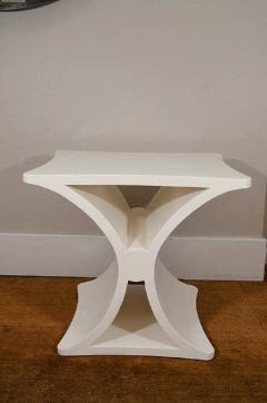 Burden A Pair of Contemporary X Form End Tables in the manner of Jean Michel Frank - 588584