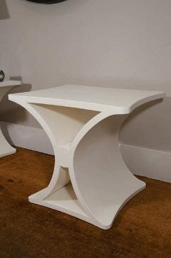 Burden A Pair of Contemporary X Form End Tables in the manner of Jean Michel Frank - 588587