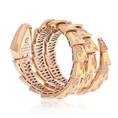 Bvlgari Bulgari BVLGARI 18K ROSE GOLD DIAMOND MOTHER OF PEARL YELLOW GOLD SERPENTI QUARTZ WATCH - 2110398