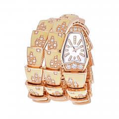 Bvlgari Bulgari BVLGARI 18K ROSE GOLD DIAMOND MOTHER OF PEARL YELLOW GOLD SERPENTI QUARTZ WATCH - 2111293