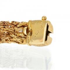 Bvlgari Bulgari BVLGARI 18K YELLOW GOLD 1960S WOVEN STYLE TWISTED BRACELET - 1977134