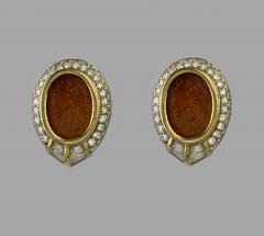 Bvlgari Bulgari Bulgari Ancient Carnilian Intaglio Earrings - 874657