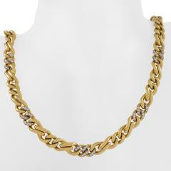 Bvlgari Bulgari Bulgari Diamond Accented Gold Chain - 1167276